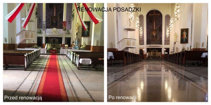 Kościół renowacja lastryka